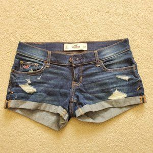 Hollister Low Rise Ripped Denim Shorts
